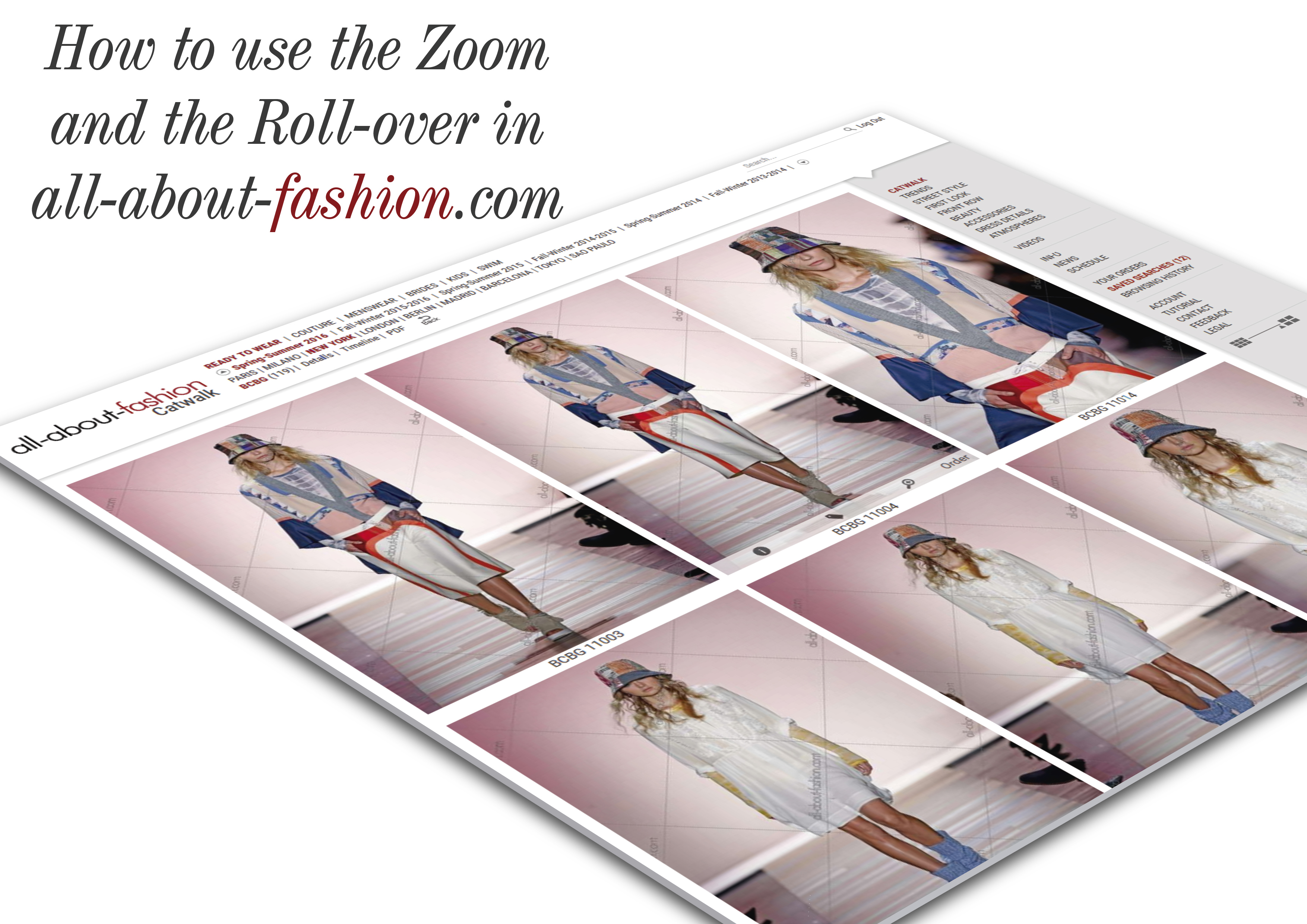how to use the zoom and the roll